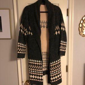 MinkPink long wrap sweater size M/L!